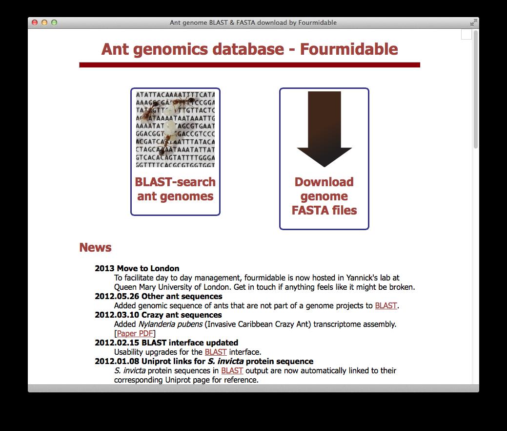 Fourmidable / antgenomes.org